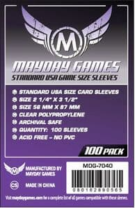 MDG7040 Mayday 56mm x 87mm -Standard USA Card Sleeves