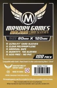 MDG7104 Mayday Magnum 100 Card Sleeves 80mm x 120mm