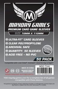 MDG7144 Mayday Premium 50 x Clear Card Sleeves 70mm x 110mm