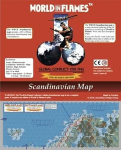 World in Flames Collector's Edition: Hard-Mounted Scandinavia Map