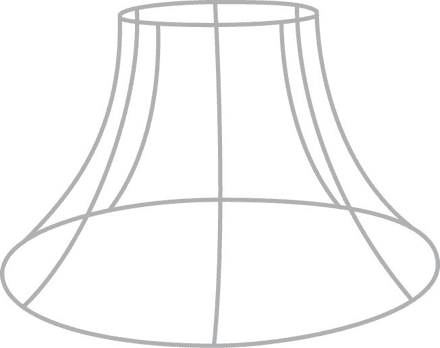 """10""""  Bowed Empire Lampshade Frame with R/G Fitting"""