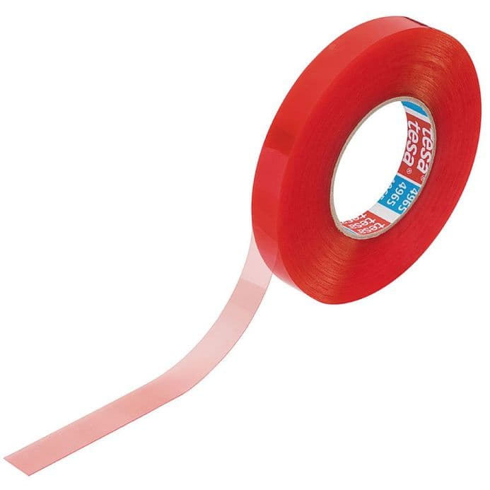 12mm Double-Sided Self-Adhesive Red Tesa Tape  50mtr roll
