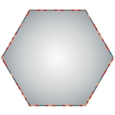 15cm Hexagon Lampshade Diffuser - Translucent polypropylene