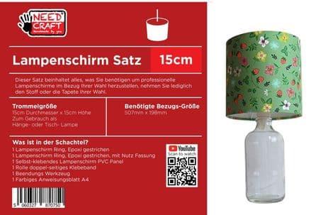 15cm Trommel Lampenschirm, Kit
