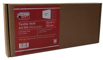 15cm x 30cm Rectangle - Textile Wall Art Kit