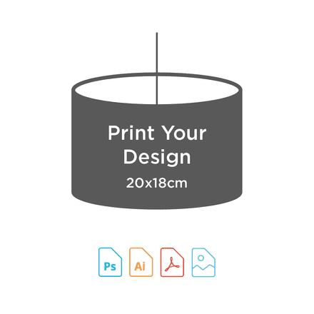 20cm Diameter x 18cm High - Digital Textile Print for Drum Lampshade