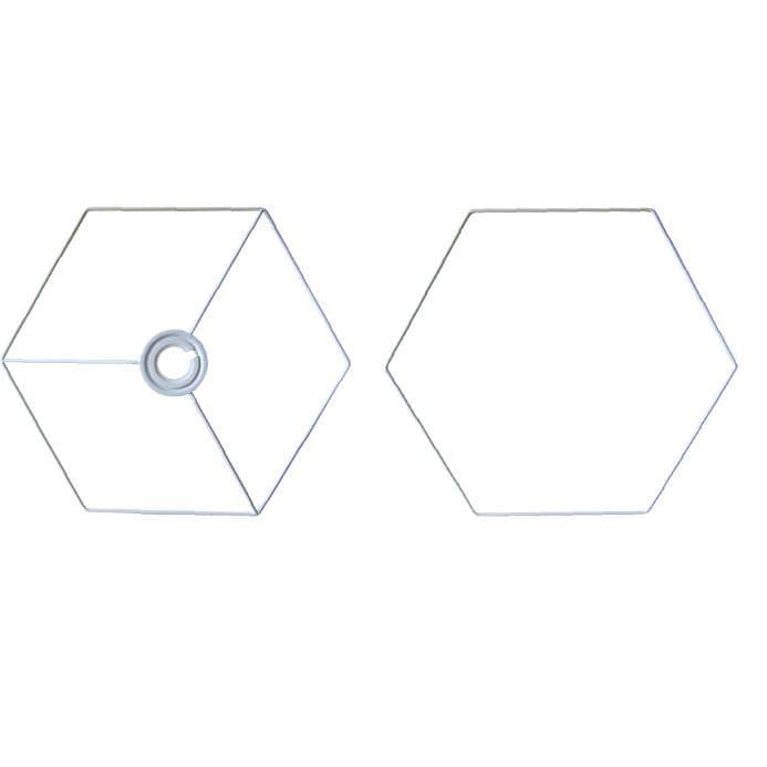 20cm Hexagon Lampshade Frame