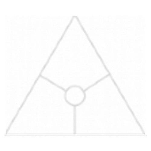 20cm Triangle Lampshade Frame