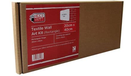 20cm x 40cm Rectangle - Textile Wall Art Kit