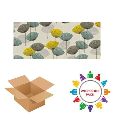 20cm x 40cm Rectangle - Textile Wall Art Kit - Workshop Pack