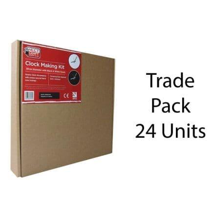 24 x Clock Making Kits - Round -  30cm Trade Pack