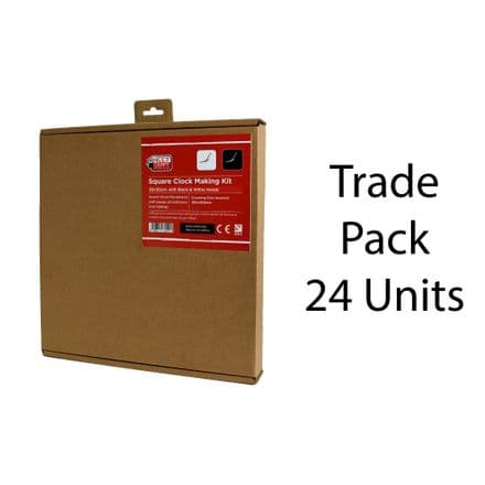 24 x Clock Making Kits - Square -  30cm Trade Pack