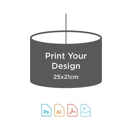 25cm Diameter x 21cm High - Digital Textile Print for Drum Lampshade