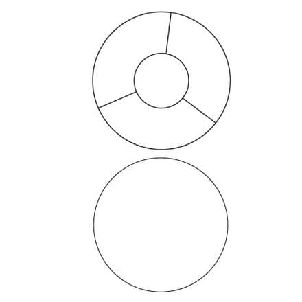 25cm Duplex Circular Lampshade Ringset