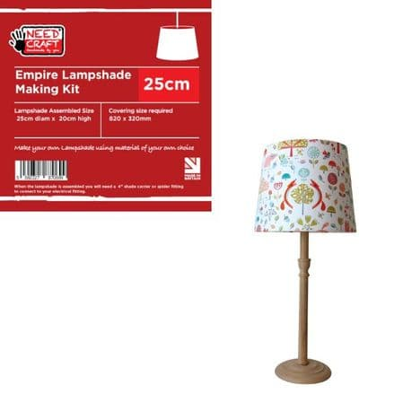 25cm Empire Lampshade Making Kit (Duplex Fitting)