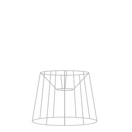 25cm French Tapered Drum Lampshade Frame with Duplex Fitting
