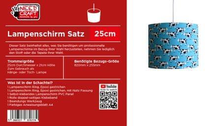 25cm Trommel Lampenschirm, Kit
