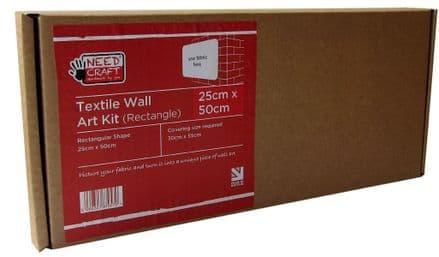 25cm x 50cm Rectangle - Textile Wall Art Kit
