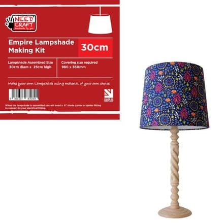 30cm Empire Lampshade Making Kit (Duplex Fitting)