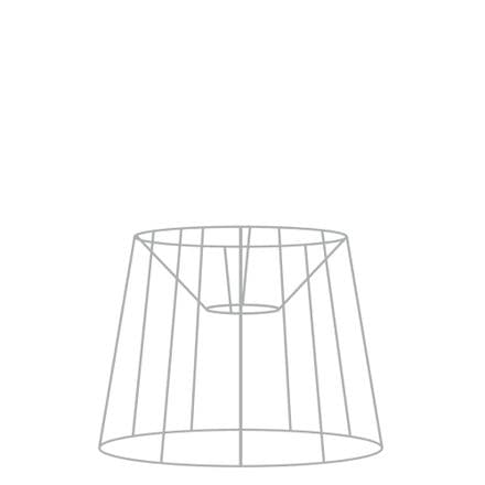 30cm French Tapered Drum Lampshade Frame with Duplex Fitting