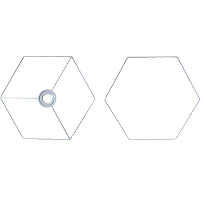 30cm Hexagon Lampshade Frame