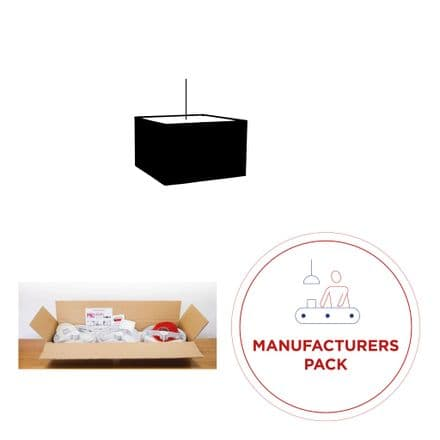 30cm Manufacturers Pack -  30 Square Lampshades