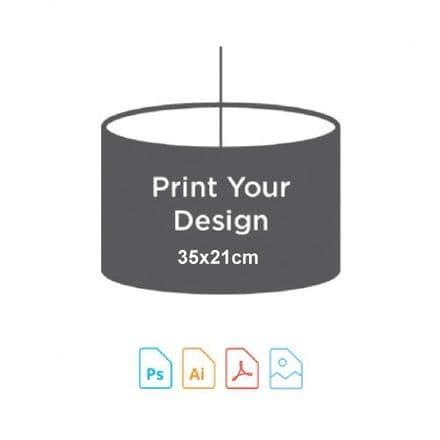 35cm Diameter x 21cm High - Digital Textile Print for Drum Lampshade