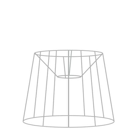 35cm French Tapered Drum Lampshade Frame with Duplex Fitting