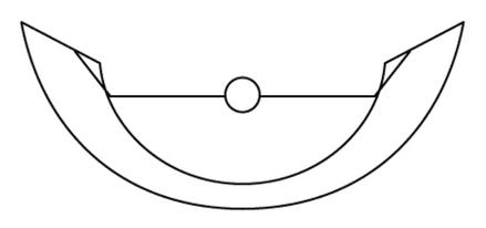 """36cm wide  (""""14"""")  Half frame"""