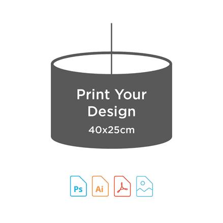40cm Diameter x 25cm High - Digital Textile Print for Drum Lampshade