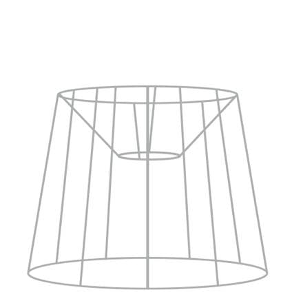 40cm French Tapered Drum Lampshade Frame with Duplex Fitting