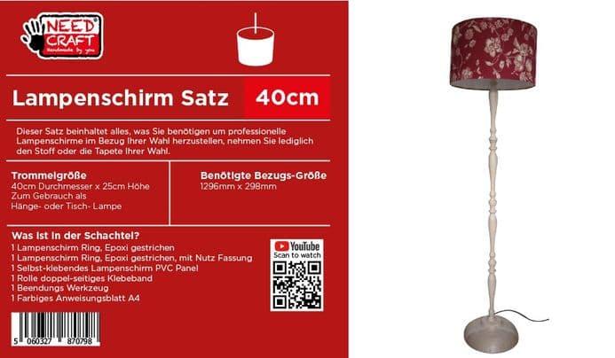 40cm Trommel Lampenschirm, Kit