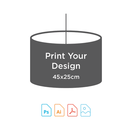 45cm Diameter x 25cm High - Digital Textile Print for Drum Lampshade
