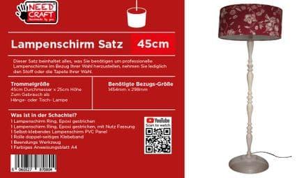 45cm Trommel Lampenschirm, Kit