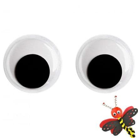 6mm  Diameter - Moving Wobbly Eyes  - Pack of 22  (26106)