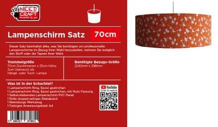 70cm Trommel Lampenschirm, Kit