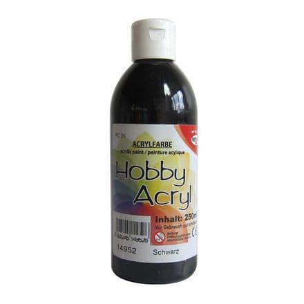 Black Acrylic Paint - 250ml (Item No: 14952)