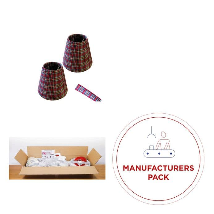 Candle Lampshade Ribbon Manufacturers Pack - 50 Candle Clip shades
