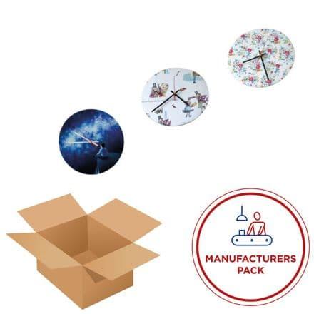 Clock 30cm -  Round- Manufacturing pack  50 Units