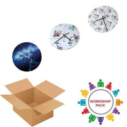 Clock 30cm - Round - Workshop pack 30 Units