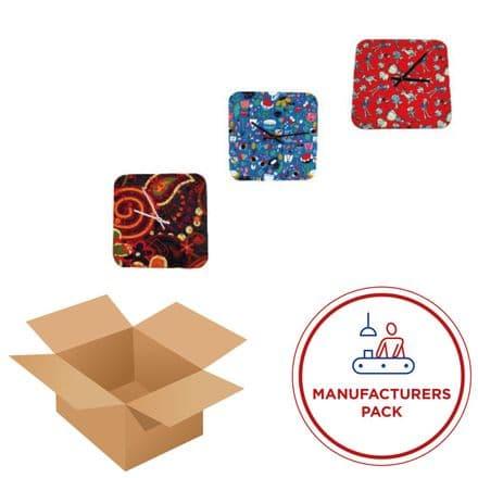 Clock 30cm - Square-  Manufacturing pack  50 Units