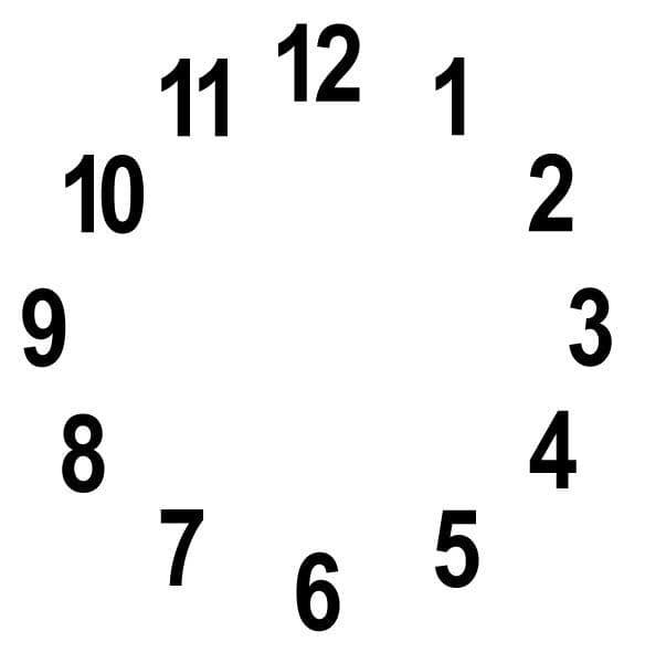 Clock Sticker - Round-  30cm Diameter - Black