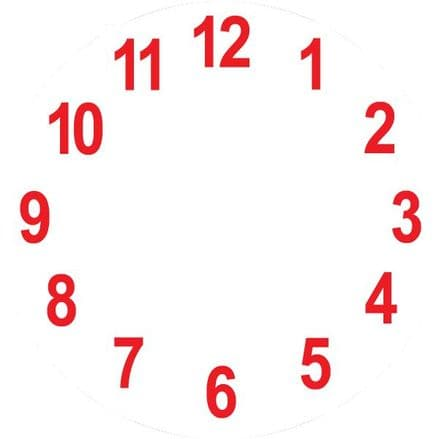 Clock Sticker  Round- - 30cm Diameter - Red