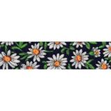 Cotton Bias Binding - 20mm - Daisy Print Navy- 25mtrs