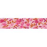 Cotton Bias Binding - 20mm - Floral Print Pink/Orange- 25mtrs