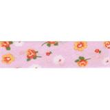 Cotton Bias Binding - 20mm - Floral Print Pink/Orange/White- 25mtrs