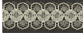 Decorative Lace - Cream- 14mm width - 50mtrs  (Item No: 943-80)