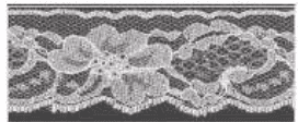 Decorative Lace - Natural - 42mm width - 25mtrs (Item No: 956-13)