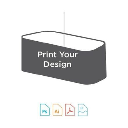 Digital Print for 20cm Rounded Rectangle Lampshade Making Kit.