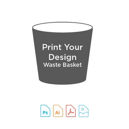 Digital Print for Waste Basket Making Kit